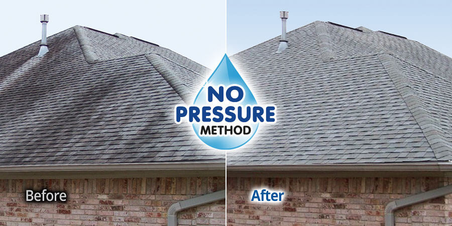 No Pressure Soft Wash Roof Cleaning